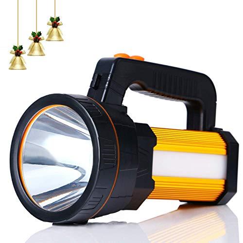 ALFLASH Leistungsstarke wiederaufladbare Taschenlampe Laterne 7000 Lumen Super Bright Wasserdichte Handscheinwerfer Taschenlampe Tragbarer LED-Scheinwerfer, 5Model