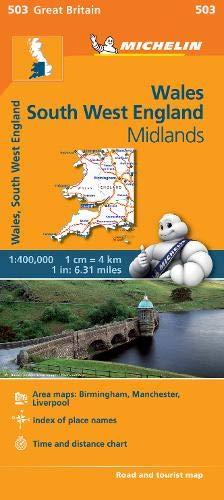 Wales - Michelin Regional Map 503 (Michelin Regional Maps)