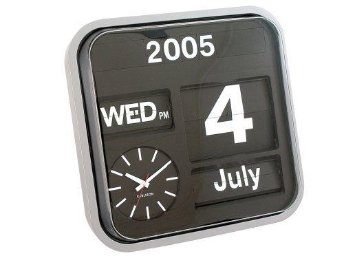 Gebraucht, Karlsson KA4202 Kalenderuhr Big Flip silbern gebraucht kaufen  Wird an jeden Ort in Deutschland