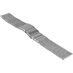 Vollmer, 0600SH4Milanese/Mesh Watchband Strap Deployment Clasp Watch Strap, 22mm