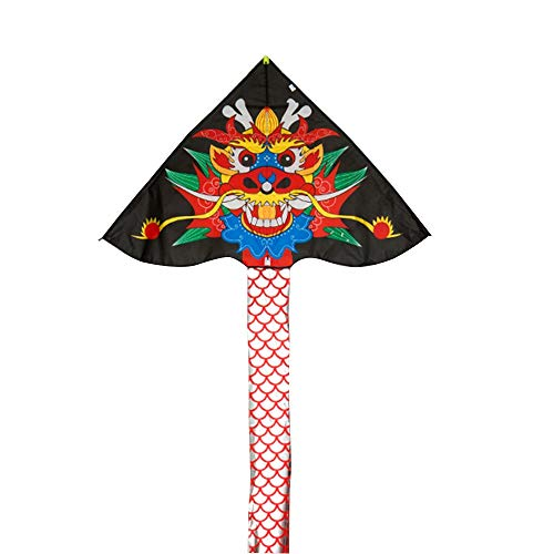 Kite Caixia, Anti-Wind, Brise leicht zu fliegen Kinder Erwachsene Anfänger Hellen Stoff großen Drachen (Farbe : Schwarz) (Anti Wind Leichter)