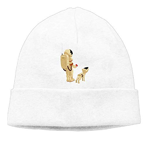 Astronauts and Pet Dogs Beanies Skull Cap Winter Warm Hedging Cap - Winter Skull Cap