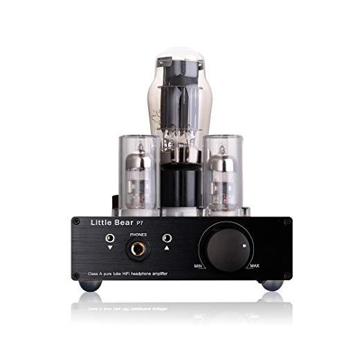Nobsound Little Bear P7 Class A Pure Vacuum Tube Headphone Amplifier; Pure Tube Preamplifier Audio Preamp; Dual-Headset Out, Kopfhörer/Vorverstärker, Black, Schwarz
