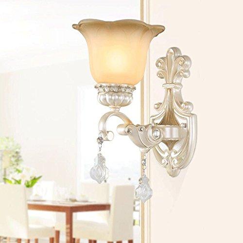 GBYZHMH Im europäischen Stil Wohnzimmer Wand lampe Nachttischlampe amerikanischen kontinentales Bügeleisen kristall Lampe gang Treppe Flur Wand leuchten Wandleuchte - Kristall-wand-lampe