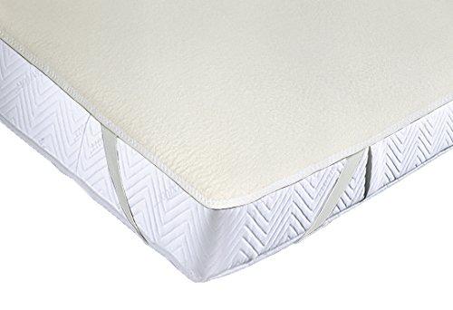 ZOLLNER® strapazierfähiger Matratzenmolton / Matratzenspannauflage / Matratzenschoner 100% Baumwolle, Größe ca. 100x200 cm, in weiteren Größen erhältlich, direkt vom Hotelwäschespezialisten, Serie