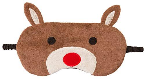g Neuheit Sleep, Augenmaske, Augenbinde mit 3D Ohren, Katze, Eule, Panda, Kaninchen, Schnee-Eule oder Mops Gr. One size, Rudolph Reindeer (Neuheit Masken)