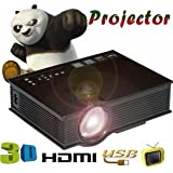 SLB Works Brand New 1800lumens LED Home Theater Cinema Multimedia Mini Projector 1080P HD HDMI Video