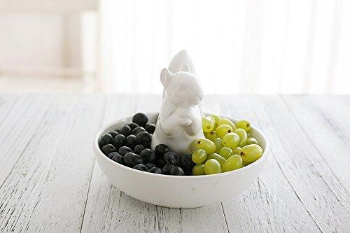 La Jolíe Muse Nussschale im Eichhörnchen Design Porzellan weiß Kekse Obst Nüsse Dips Weihnachtsdeko