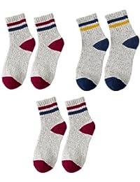 GRHY Otoño e Invierno con zapatos blancos, Mid-Rise cintura, calcetines de lana, calcetines de mujeres,un tamaño, 2 Rojo 1 Azul