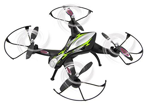 Jamara 422021 - F1X VR Altitude FPV Wifi Kompass Flyback - Race Drone, inklusiv VR-Brille, über Sender und App steuern, 3 Geschwindigkeiten, 40 KM/h, Höhenkontrolle (Barometer) und Rückflugautomatik - 7