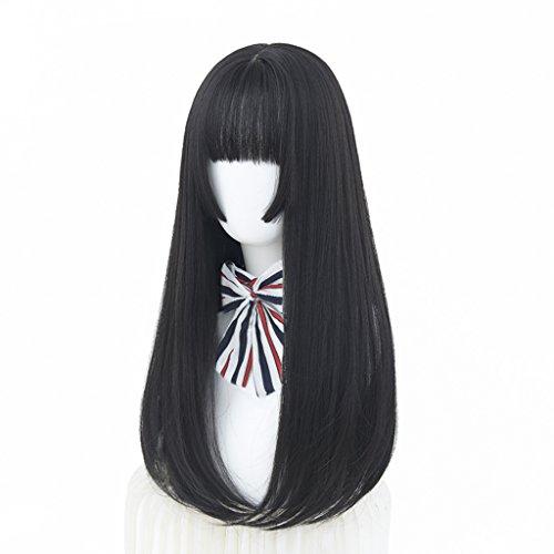 Chang Xiang Ya Shop Perruques Longues Droites de Cheveux Longs Cheveux Doux naturels de Mode Perruques Noires Femelles