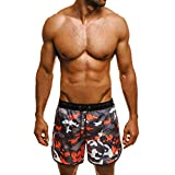 Bañador de natación para Hombre,JiaMeng Trunks Quick Dry Beach Surfing Correr Natación Pantalón Corto Fitness Culturismo Bañador Hombre Playa Natación
