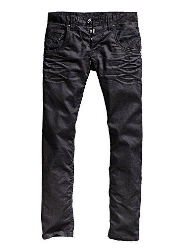 Timezone - jeans d'homme coupe droite couleur terne terne wash