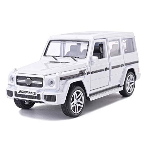 SSBH 01:32 SUV Simulazione Lega di pressofusione Macchina Giocattolo Modello di Raccolta Mezzi di Decorazione for Adulti Bambini Legno E Mustang Piccoli Metallo Auto, 15.5x6x6.3CM (Color : Bianca)