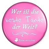 Spruch Wer ist die beste Tante der Welt Schminkspiegel, Taschenspiegel Schminkspiegel Reisespiegel Handspiegelmit 59 mm Durchmesser