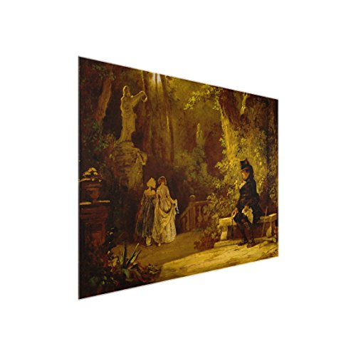 Bilderwelten Glasbild - Kunstdruck Carl Spitzweg - der Witwer - Quer 3:4, Größe HxB: 60cm x 80cm
