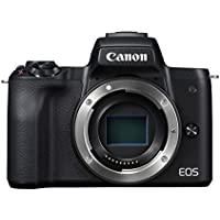 Canon EOS M50 spiegellos Systemkamera (24,1 MP, dreh- und schwenkbares 7,5 cm (3 Zoll) Touchscreen LCD, Display, APS-C CMOS-Sensor, Digic 8, 4K Video, OLED EVF, WLAN, Bluetooth) Gehäuse Body schwarz