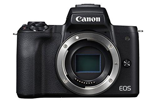 Canon EOS M50 spiegellose Systemkamera (24,1 MP, dreh-und schwenkbares 7,5cm (3 Zoll) Touchscreen-LCD, Digic 8, 4K Video, OLED EVF,WLAN, bluetooth) Gehäuse schwarz -