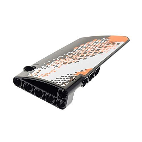 Bausteine gebraucht 1 x Lego Technic Panele schwarz Verkleidung 17 Seite A Gross glatt lang Fairing # 17 Side A Sticker 9398 Auto Fahrzeug 64392pb019