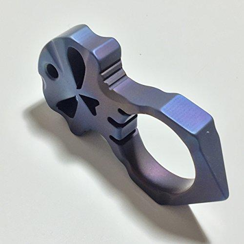Titanium blau Schädel Anhänger & Schlüsselanhänger Ring KLT30, nur 45.3 g (Titanium blue Skull pendants & Key Chain Ring KLT30)