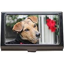 Titular de la tarjeta de presentación, Piel de perro de perro marrón, Retrato híbrido