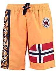 Geographical Norway - Maillot de Bain Garçon Geographical Norway Quemen Orange