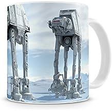 SD Toys SDTSDT89338 - Taza de desayuno, diseño Star Wars, cerámica blanca