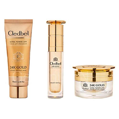[Cledbel] 24K Gold luxury lifting Mask 70ml + Serum 30ml + Cream 50ml / Anti-aging