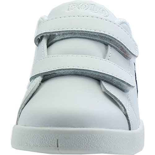 Polo Ralph Lauren Bilton Ez C White Leather Junior Trainers White