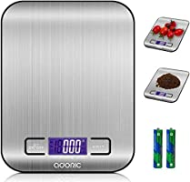 ADORIC Kitchen Scales Digital Scales Professional Electronic Scales with LCD Display Incredible Precision up to 1 g (5...