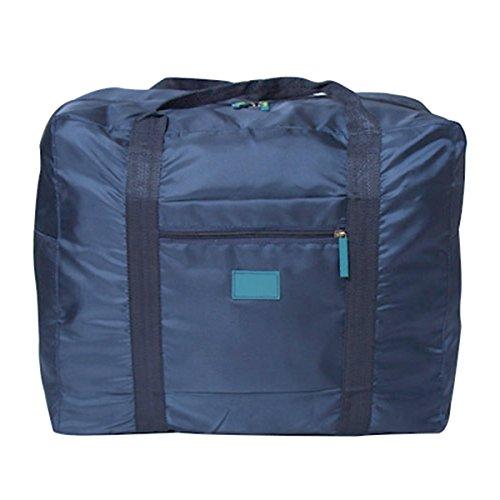 Latinaric Reise Tragbar Tasche Faltbare Reisetasche Aufbewahrungstasche Handgepäck für Reisekoffer Blau