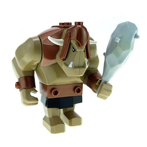 1 x Lego System Fantasy Era - Troll dunkel beige tan Figur Riese mit Keule für Set Zwergen Mine 7036 60674 cas358