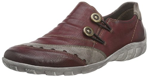 Remonte Dorndorf R3400, Chaussons femme Rouge - Rot (wine/cigar / 35)
