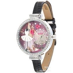 ufengke® rhinestonerand handgelenk armbanduhren für frauen damen mädchen-schwarzes band musik partei thema