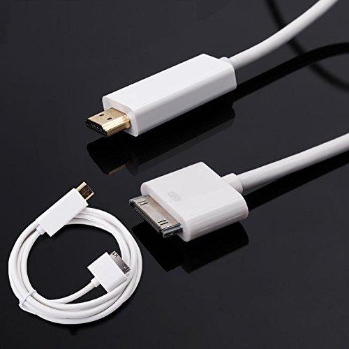 �m Kabel-Konverter für Apple iPhone 4/4S, iPad 2/3und iPod Touch (Iphone 4s-tv-adapter-kabel)