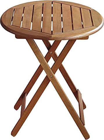 Table Bois Massif - Colourliving® Table pliante table de jardin en