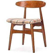 GAOLI Muebles de Oficina Taburete de Madera, mesas y sillas Simples de Mesa de café Modernas, sillas Retro nórdicos, sillas de Comedor, Respaldo de Madera Maciza preside -Mint Rojo