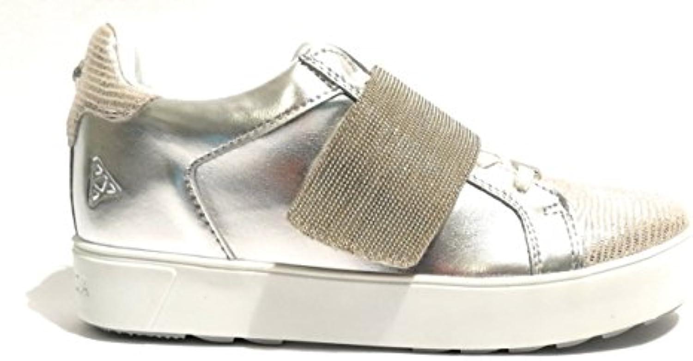 Apepazza Scarpe Donna scarpe da da da ginnastica rosaline Pelle argento Chain DS18AP07 | In Breve Fornitura  cfb36b