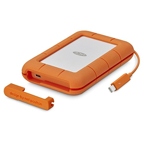 LaCie 1 TB Rugged Thunderbolt Plus USB-C Portable 2.5-Inch External SSD for PC and Mac - Orange