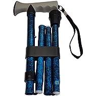 Life Healthcare Walking Stick Gel Handled, Blue Crackle