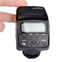 spécifications: Type: sur l'appareil photo speedlite Caméras compatibles: L'appareil photo Nikon compatible CLS Guide No: 27 (100 ISO en mètres / pieds) Portée effective du flash: (avec EF50mm f / 1.4 lentille à 100 ISO) 0.6-20m Système de contrôle d...