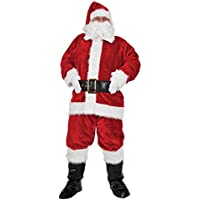 Luxury Plush 8 Piece Santa Outfit - Adult Costume Man: