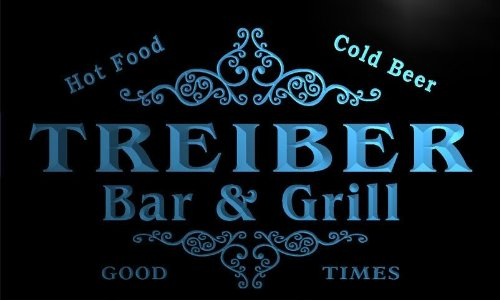 u45544-b TREIBER Family Name Bar & Grill Home Decor Neon Light Sign Barlicht Neonlicht Lichtwerbung (Treiber Schiff)