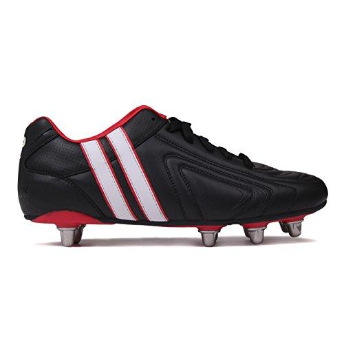 Patrick Power X Herren Rugby Schuhe Stollen Sportschuhe Stollenschuh Weich Boden Black/White 7 (41) (Rugby-boot-schuhe)