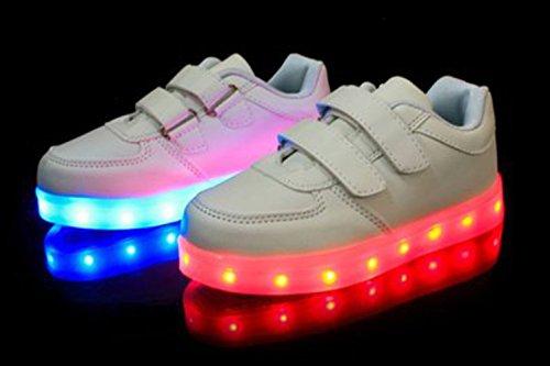 [+Piccolo asciugamano]Luci LED colorati bagliore e ricarica scarpe dargento nuovo scarpe casual USB maschio luminoso e di coppia scarpe femmin c16
