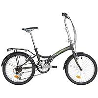 "Bici pieghevole Atala Greenbay 20"" antracite - verde 6V"