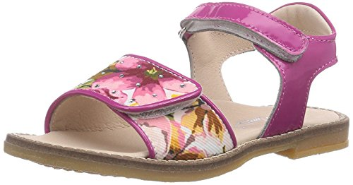 Andrea Morelli FLOWER SANDAL, Baby Mädchen Lauflernschuhe, Pink (TE FIORI/FUXIA), 22 EU (Pink Flower Sandal)