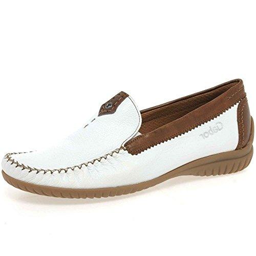 Gabor Shoes Gabor Comfort 26.090.46, Mocassins femme Blanc