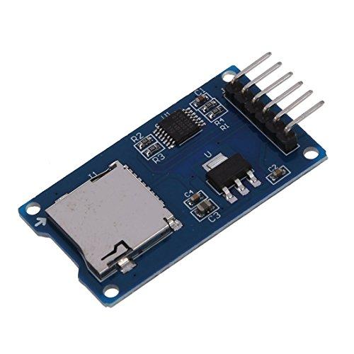 SODIAL Lector SPI Mini de tarjeta de memoria SD TF Modulo de tarjeta de memoria para Arduino