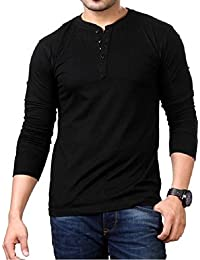 Style Shell Men's Henley Full Sleeve Cotton T-Shirt